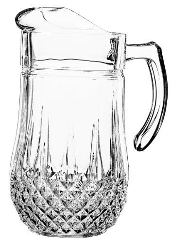 Arc International Luminarc Canterbury Pitcher, 6-Inch, 50.5 oz, Clear