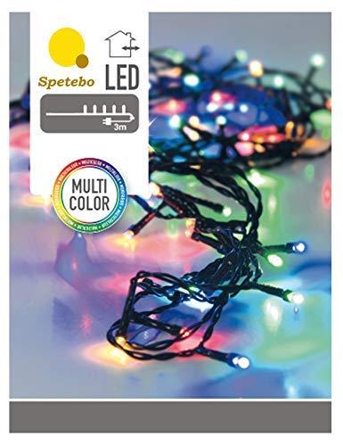 Guirlande lumineuse LED avec 80 LED multicolores - Pour l'intérieur et l'extérieur.