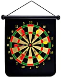 GrassVillage Magnetic Dartboard Set Roll Up Comes with 6 Darts Double Sided Bullseye or Dart Board Game