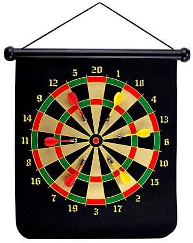 GrassVillage Magnetic Dartboard Set Roll Up Comes with 6...