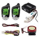 EASYGUARD EM211 - Sistema de Alarma de 2 vías para Motocicleta, con Sensor de Movimiento de inclinación y Encendido Remoto, Pantalla LCD de 12 V CC
