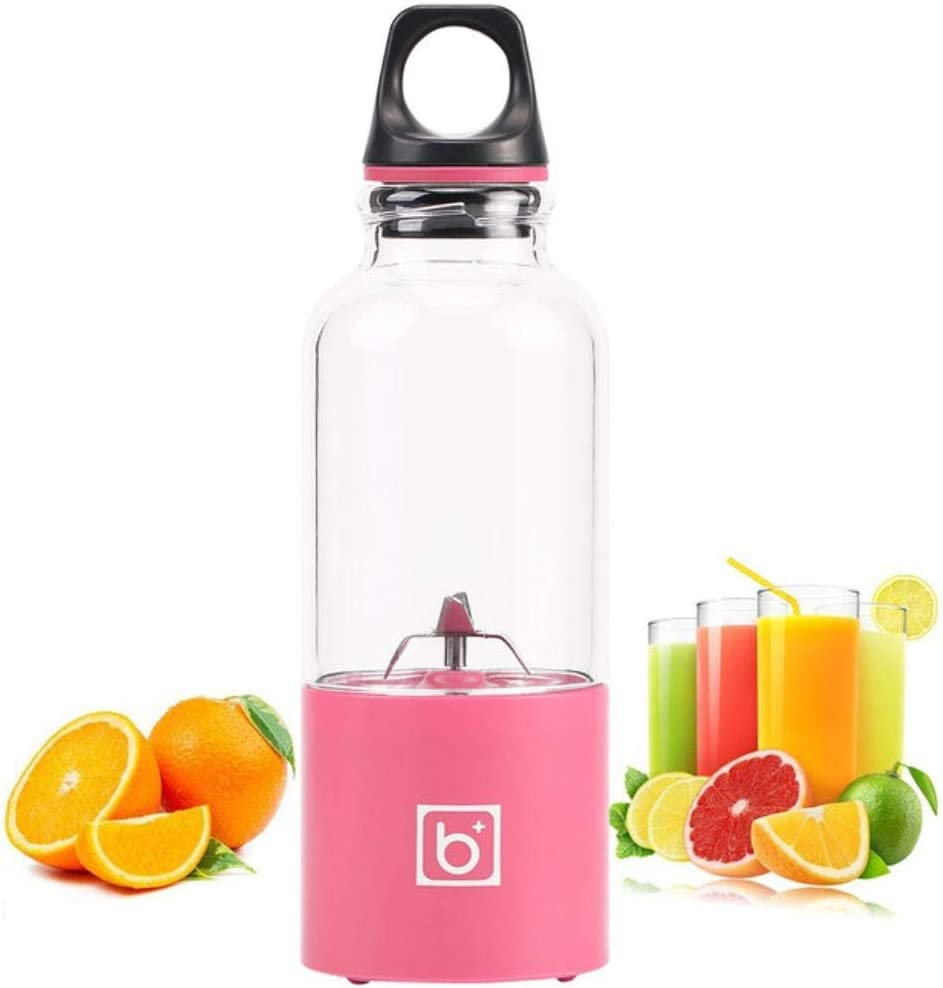 Colorido 500ML Recargable Automático Vegetales Jugos de Frutas Extractor de Botellas Mezclador de Cuatro licuadoras Azul Green