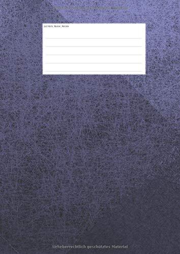 Hefte - Blöcke - Notizen: violett Notenheft DIN A4, 50 Seiten, 12 Systeme