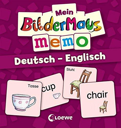 Mein Bildermaus-Memo - Deutsch - Englisch (Kinderspiel)
