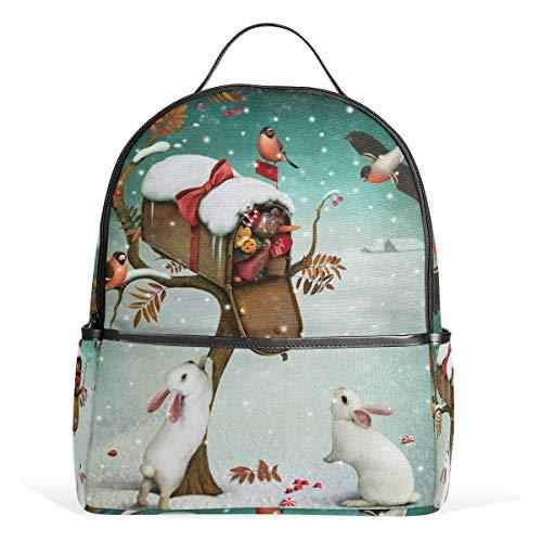 MyDaily Rucksack mit Vogelhase und Briefkasten, Jungen und Mädchen, Schulbüchertasche