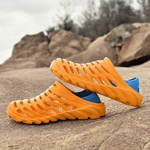 Playa y Piscina Zapatillas,Sandalias huecas para hombres de verano,zuecos de viaje,zapatillas de...