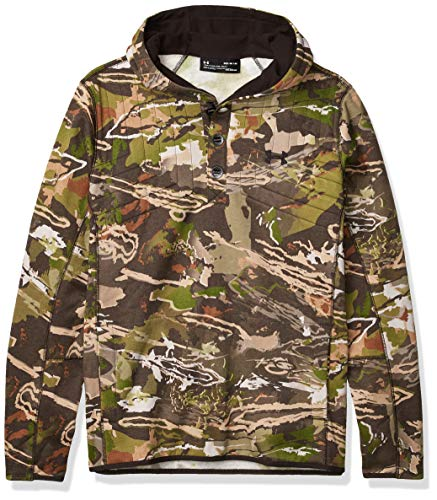Under Armour Men's Stealth Reaper Wool Hoodie,Ridge Reaper Camo Fo (943)/Black, Medium