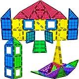Magees Magnetic Building Blocks 35 Set - Magnet Toys Building, Strongest Magnets - Magnetic Tiles Includes Bonus 5Piece Insert# Cards - STEM 3D Magnet Tiles Best Gift - Original by