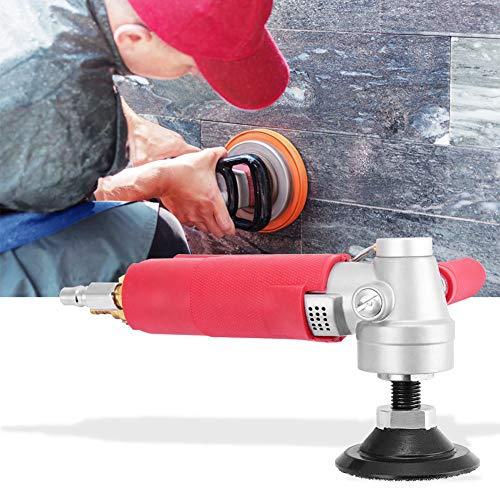 """Boquite Pulidora de Aire, Amoladora neumática Profesional de Agua de 3""""Lijadora de Aire húmedo de Alta Velocidad 4300 RPM para Piedra de mármol"""