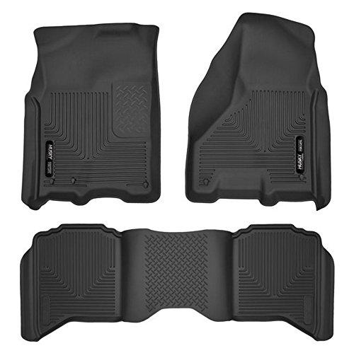 Husky Liners 53511 53601 Black Front Floor Liners and 2nd Seat Floor Liner for Dodge Ram 1500 2500 3500