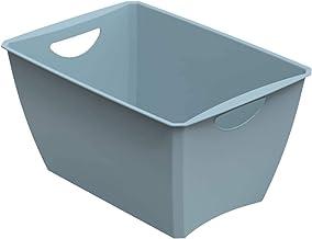 Rotho Lounge pojemnik do przechowywania 23 l, tworzywo sztuczne (PP z recyklingu), nie zawiera BPA, niebieski, 23 l (46,0 ...
