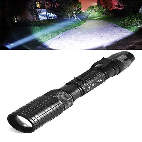 Torcia LED Ultra Luminosa 5000 lumen, modalità Zoom regolabile, Ricaricabile alimentata da batterie 18650 + ricarica - Classe di efficienza energetica A++