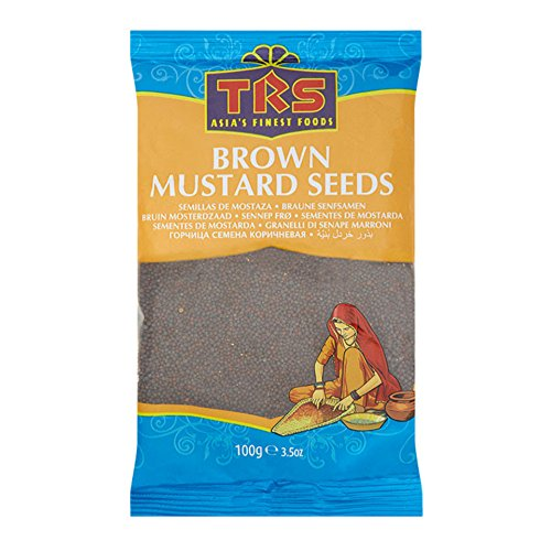 TRS Brown Mustard Seeds 100g semillas de mostaza granos ingrediente