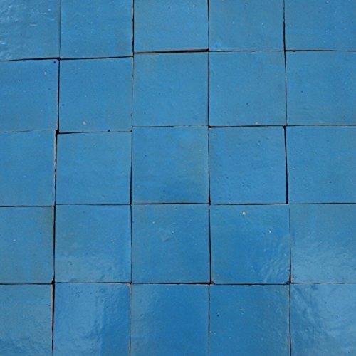 1m² cerámica azulejos zellige FliesenBild pared azulejos mosaico azulejos marroquí piedra de color azul claro vidriado. zelliges