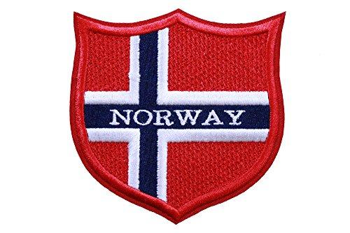 Welt Flaggen bestickt Patch Schild (7,6x 7,6cm) European Edition. Custom Flaggen der Länder in Europa. 100% Made in USA Norway