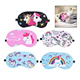 iwobi 5 Piezas Unicornio Venda para Dormir, para Dormir, cómodas, Ligeras, para Fiestas, Viajes
