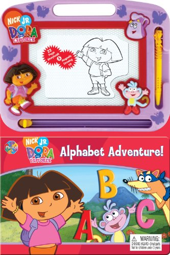 Price comparison product image Dora Alphabet Adventure Storybook & Magnetic Drawing Kit(Nickelodeon Learning)