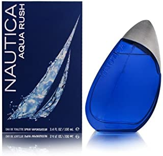 AQUA RUSH by Nautica 3.4 Ounce / 100 ml Eau de Toilette Men Spray