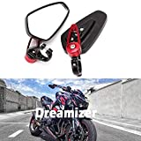 DREAMIZER 7/8' 22mm Motocicleta Espejos del Extremo del Manillar, Espejos Retrovisores Moto para CB1000R Grom MSX125 CB500F Z1000 Z650 Z750 Z800 ER6N ER6F MT03 MT07 MT09 MT10 FZ6 FZ07 FZ09 FZ10