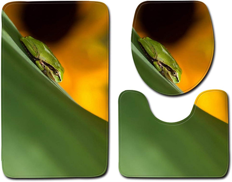 soporte minorista mayorista Alfombrillas de bao Tres juegos de inodoro inodoro inodoro suave bao antideslizante estera de bao de tres piezas (alfombra de bao + tapa de inodoro alfombra + alfombra de piso) ( Color   Color2 , Talla   5080cm )  selección larga