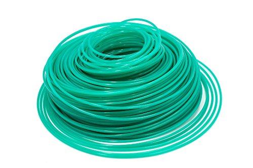 vhbw Filo Trimmer falciante Diametro 2,4mm per rasaerba decespugliatore - 88 m, Verde, Nylon, Resistente - Filo di Ricambio per tagliaerba