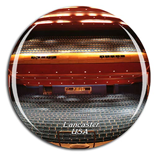 Weekino Stati Uniti American Music Theatre Lancaster Calamità da frigo 3D Cristallo Bicchiere Tourist City Viaggio Souvenir Collezione Regalo Forte Frigorifero Sticker