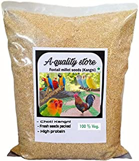 A-Quality Store Premium Kangni Seed Bird Food Foxtail Millet Seeds for Birds 1KG Pack