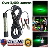 IllumiSea Ultra Bright 3450 Lumen Green 12v Mini BriteBite Underwater LED Fishing Light (Green - 1 Light)