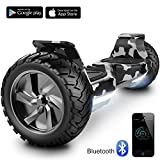 Cool&Fun 8.5' Balance Board Scooter Patinete Hummer SUV 700W Eléctrico Bluetooth App Self Balancing (Army Green)