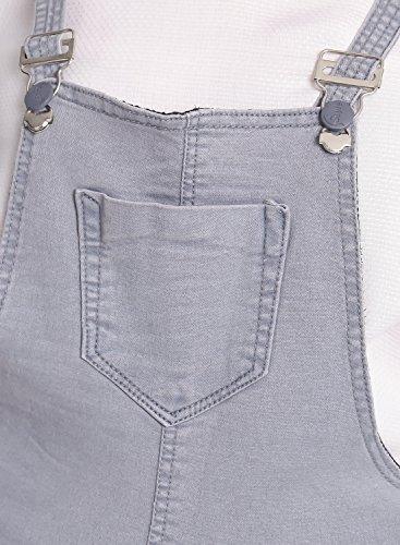 Broadstar Grey Denim Solid Casual Dungaree For Women (1225GREY-32 )