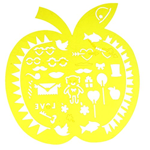 Schablonen Zeichen Grafiken Schablonen Scrapbooking verzieren Zeichnungsvorlage Kunst Handwerk - Apfel