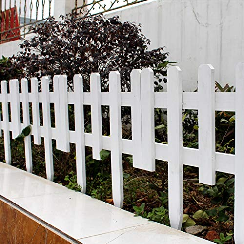 JLLXXG Wooden Panel Picket Fencing - Effect Lawn Border Edge Garden Edging Plant Picket Fencing Panels