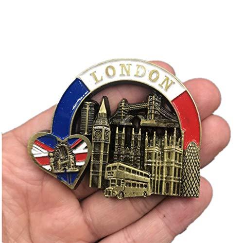 Bella Magneti per FrigoriferoCalamite da Frigo Fridge Magnet Sticker in Metello Viaggio Souvenir del Regno Unito Londra Big Ben Tower Bridge Cuore Regalo Casa Decor