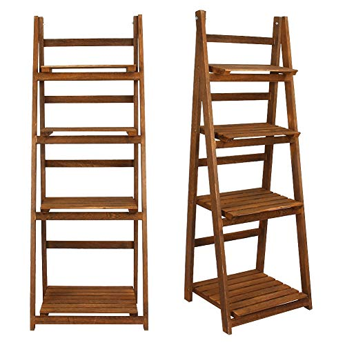 Clean Storage Shelf, Storage Shelving Unit Clean and Tidy High Quality 42.0 * 34.8 * 112.6cm Made of Solid Wood