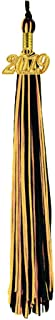 [2019 Upgrade]HEPNA Uniforms Graduation Cap Tassel for Graduation Photograghy,Double Color Black/Gold,2019 Year Charm