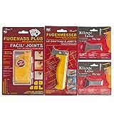 FugenAss Plus Fugen-Set | Fugenmesser & Fugenglätter mit 2 Ersatzklingen im Set | Universal Spezialwerkzeug für Sanitär | Ideal für Silikonfugen