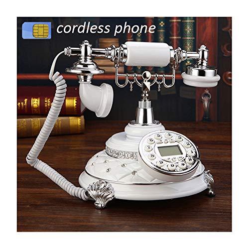 TANGADYL Vintage Telefon 4G Unterstützung GSM 900 1800Mhz SIM Karte Fest Telefon Schnurlos Retro Wireless Telephone Home Office Hotelhandphone