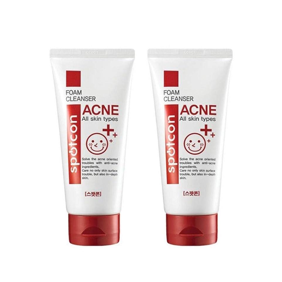 いつもマナー意外スポットコーンアクネフォームクレンザー120mlx2本セットにきび緩和韓国コスメ、Spotcon Acne Foam Cleanser 120ml x 2ea Set Korean Cosmetics [並行輸入品]