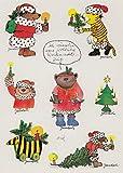 Janosch Sticker Postkarte Fröhliche Weihnachtszeit Eine Kerze für Dich