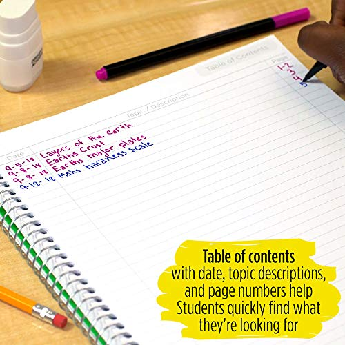 """Five Star Interactive Notetaking, 1 Subject, College Ruled Spiral Notebooks, 100 Sheets, 11"""" x 8-1/2"""", 3 Pack (38581) Photo #2"""