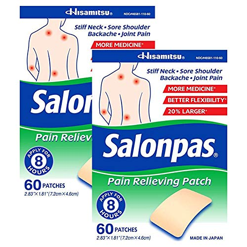 Salonpas Pain Relieving Patches, 60 Count (3 Packs(60 Count))