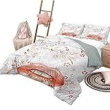 3-teilige Bettwäsche-Sets in voller Größe Moderne leichte Schlafzimmer-Tagesdecke für die ganze Saison Digital Abstract Ivy