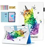 Dteck Leather Case Samsung Galaxy Tab S6 10.5' 2019 Model SM-T860/T865/T867, Multi-Angle Viewing Stand Smart Auto Sleep/Wake Protective Case for Samsung Galaxy Tab S6 10.5' Tablet, Cute Cat