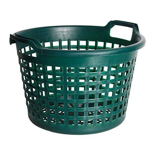 Fachhandel Plus Universalkorb Kunststoff rund 15 kg grün, Garten Laub Ernte Obst Kartoffel Korb