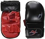 Ju-Sports Freefight Guantes MMA Allround, Color Negro - Blanco/Rojo, tamaño Extra-Large