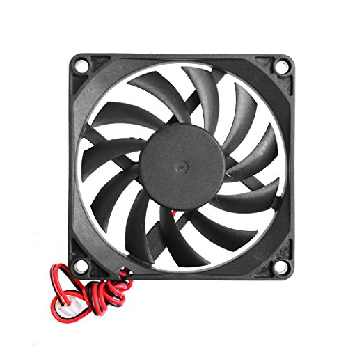 Runrain Sistema de CPU de ordenador disipador de calor, ventilador de refrigeración sin escobillas 8010 12V 2 pines 80x80x10mm PC