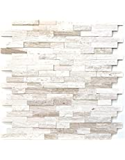 Mozaïek tegel – Marmer Natuursteen Off White Stone Wit Hout voor muur badkamer toilet douche Keuken Tegel Spiegel Tegenversiering Badpaneel Mozaïek Mat Mozaïek Tafelblad