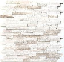 Mozaïek tegel – Marmer Natuursteen Off White Stone Wit Hout voor muur badkamer toilet douche Keuken Tegel Spiegel Tegenver...