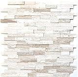 Mosaik Fliese selbstklebend Marmor Naturstein grauweiß Naturstein white wood für WAND BAD WC KÜCHE FLIESENSPIEGEL THEKENVERKLEIDUNG BADEWANNENVERKLEIDUNG Mosaikmatte Mosaikplatte