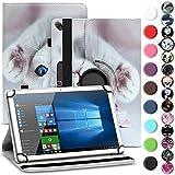 Archos 101b Oxygen Tasche Hülle Tablet Cover Schutz Case Schutzhülle 360° Drehbar, Farbe:Motiv 14